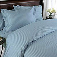 Egyptian Bedding 300 Thread Count Egyptian Cotton Down Comforter Duvet Set Full Blue Damask Stripe 300 TC -- Continue to the product at the image link. King Duvet Cover Sets, Bed Duvet Covers, Comforter Sets, Pillow Shams, Pillow Cases, Comforter Cover, Cover Pillow, Luxury Duvet Covers, Luxury Bedding