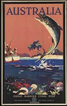 Australia, Great Barrier Coral Reef by Boston Public Library, via Flickr