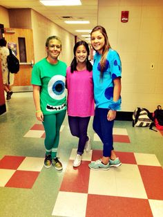 homecoming day 3 : dynamic duo (plus one)  boo, sully, and mike!