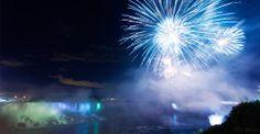 Fireworks at Niagara Falls.