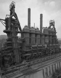 Carrie furnaces #3 & #4, US Steel works, 1989    Martin Stupich    Remnants of the First World
