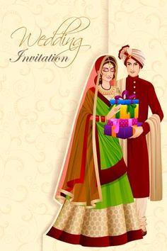 Indian man couple with gift in wedding ceremony of india stock vector - 70678489 Wedding Card Design Indian, Indian Wedding Couple, Wedding Couple Photos, Indian Wedding Cards, Indian Bride And Groom, Wedding Clip, Wedding Couples, Wedding Ceremony, Backdrop Wedding
