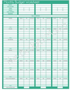 Really Pretty Spreadsheet For Home Budgeting From Luc Latulippe