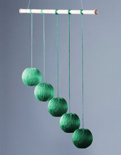 The Gobbi Mobile is the third in the Visual Mobile Series (following the Munari and Octahedron Mobiles). The mobile consists of 5 spheres wrapped in