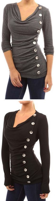 Take yourself a casual day with button fashion.  Come As You Are Top features thin fabric with great stretch and ornamental buttons. Up to 50% off at CUPSHE.COM !