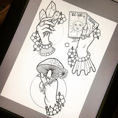 Drawings done by new artist Louise available now.   To see more of Louise's work follow the link and request an appointment.  #handtattoo #fortuneteller #newtraditional #tattoo