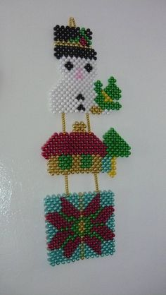 Bead Jewellery, Beaded Jewelry, Beading Patterns Free, Bead Patterns, Bead Bowl, Beaded Banners, Beaded Christmas Ornaments, Beaded Crafts, Beaded Bags