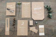Hochzeitskarten Kraftpapier - Lässige Boho Hochzeit mit Lichtern   Hochzeitsblog The Little Wedding Corner