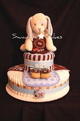 Don't miss our darling baby diaper cakes. Take an additional 10% with coupon Pin60 at www.CreativeBabyBedding.com
