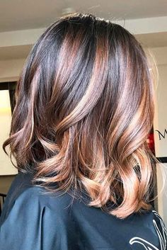 21 Ideas Of Highlights For Dark Brown Hair - Highlights for Dark Brown Hair Color Tiger Eye: 21 Stunning New Ideas ★ See more: lovehairstyles. Highlights For Dark Brown Hair, Brown Hair Balayage, Brown Blonde Hair, Hair Highlights, Dark Hair, Dark Brunette, Blonde Balayage, Bayalage Bob, Bronde Lob