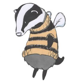 Honey badger in bee costume