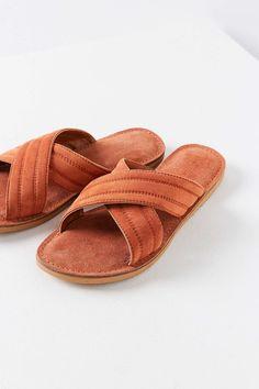 d1778c6cbb7 Sadie Suede Cross Strap Slide Suede Sandals