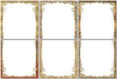 Набор легких декоративных рамок для оформления фото в Фотошопе в одном многослойном файле PSD