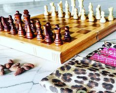 Chess anyone? We dusted off this travel set about a month ago and my youngest is hooked! Mama is having to brush up on chess moves from childhood but as the only girl of my elementary school's chess club I know how to bring it.  Loving the chess community on IG. I discovered these guys as I was exploring:  @sofi_chess  @chesstacticschannel @chessat3 @winningfingers @toy_ideas @sandboxgirls_cr The last three have a slew of fantastic ideas on chess as well as other crafts and games for kids… Travel Set, Travel Style, Chess Moves, Dust Off, Only Girl, Games For Kids, Exploring, Childhood, Toy