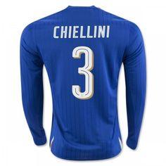 f6fcd3fd14d Italien UEFA Euro 2016 Chiellini 3 Hjemmebanetrøje Langærmet Chelsea Football  Shirt