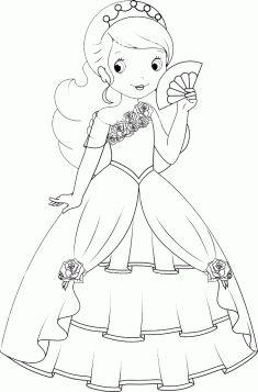 Prenses Boyama Sayfası Boyama Princess Coloring Pages Princess