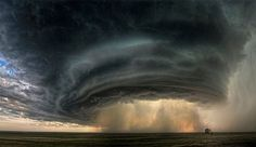 """The Mothership"" a supercell thunderstorm near Glasgow, Montana by Sean R. Heavey, 2010."