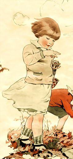 vintage autumn | Olga F. Heese, 1919