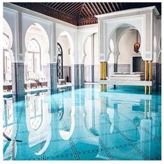 """ashtogold: """"Weekends are the BEST time to plan a holiday. Who's been to Morocco? La Mamounia Hotel in Marrakech """" Moroccan Design, Moroccan Decor, Moroccan Style, Islamic Architecture, Architecture Design, Gothic Architecture, Mamounia Marrakech, Marrakech Morocco, Moroccan Interiors"""