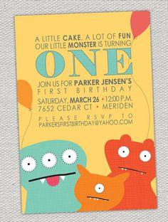 Monster Birthday Invitations by jenrikdesigns on Etsy, $15.00