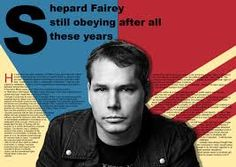 double page magazine spread Shepard Fairey - Google Search After All These Years, Magazine Spreads, Google Search