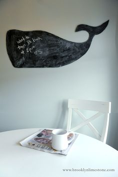 Craft Wars: Whale chalkboard.  Awesome!