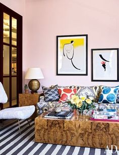 ELEMENTS OF STYLE BLOG -  OFFICES OF RETAILER MODA OPERANDI - BLANCHED CORAL