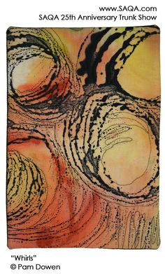 Art quilt by Pam Dowen #artquilts #SAQA