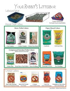 Types of Rabbit litter that is ok to use …