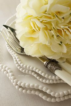 07-09-2016 white ceramic dinnerware, white ceramic flatware, pale yellow rose, A Soft Place To Fall.