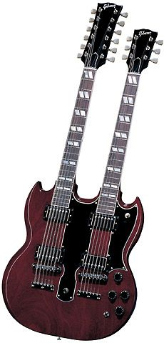 jimmy's double neck guitar