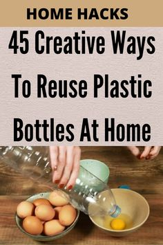 #45 #Creative #Ways To #Reuse #Plastic #Bottles At #Home #plastic #waste #big #problem #world.#estimated#percent#plastic#waste#recycled.#means #straight#landfill #worse,#natural #environments#rivers#forests#oceans#wreaks #havoc #wildlife. Plastic Waste Recycling, Reuse Plastic Bottles, Life Hacks Home, 1000 Life Hacks, Home Cleaning Equipment, Diy Crafts Hacks, Metal Working, Thing 1, House Styles