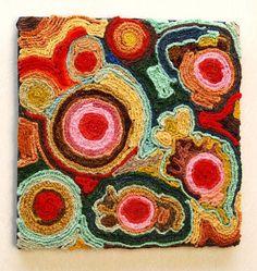 DIY Tutorial: Home / Vintage Crafting - Yarn Art - DIY Tutorial - Bead&Cord