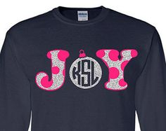 Polka Dot JOY Monogram Ornament Adult Long Sleeve T-Shirt Christmas Monogram Cl - Holiday Shirts - Ideas of Holiday Shirts - Polka Dot JOY Monogram Ornament Adult Long Sleeve T-Shirt Christmas Monogram Clothing Personalized Holiday Shirt Monogram T Shirts, Vinyl Monogram, Monogram Design, Vinyl Shirts, Monogram Clothing, Christmas Vinyl, Christmas Shirts, Pink Christmas, Christmas Ideas