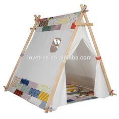 2015 popular kids teepee tent yoga mat floor mat indian kids mat  sc 1 st  Pinterest & Lovetree Ce Approved Childs Cotton Canvas Tents Teepee For Camping ...