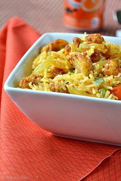 Spicy Treats: Aloo Gobi Masala Rice / Baked Potato Cauliflower Masala Rice
