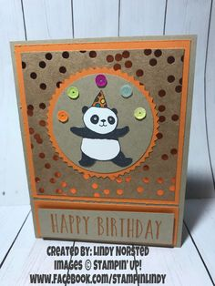"""Stampin' Up """"Party Pandas"""" part of 2017 Sale-A-Bration. #supartypandas #partypandas #saleabration2018"""