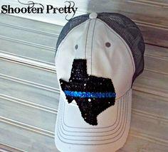 SUPPORT DALLAS Thin blue line texas trucker hat by ShootenPretty