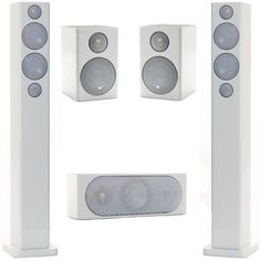 The Monitor Audio R270HD Speaker Package is made up of the Monitor Audio R270HD floor standing speakers, the Monitor Audio R180HD centre speaker and the Monitor Audio R90HD bookshelf speaker for the rears.