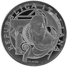 Italia 10 euro argento 2004. Genova capitale eurpea della cultura