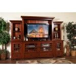 $2144.00  Sunny Designs - Route Missions 6 Piece Walnut Entertainment Wall - 3439BC
