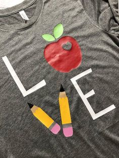 Teacher Shirt / Gifts For Teachers / Teacher Gift / Gifts For Her / Graphic Tees / Funny T-Shirts / Teacher Love T-Shirt / Teacher Shirts Show your love for Teaching in this soft tee! Perfect Shirt for those casual Fridays! Dyi Couture, Just In Case, Just For You, Teaching Outfits, Teaching Tips, Becoming A Teacher, Funny Graphic Tees, Funny Shirts, Teacher Style