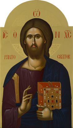 Byzantine Icons, Byzantine Art, Jesus Is Lord, Jesus Christ, Christ Pantocrator, Jesus Face, Orthodox Christianity, Orthodox Icons, Religious Art