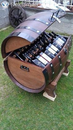 Wine promotion – Wine World Wine Barrel Table, Wine Barrel Furniture, Wine Barrels, Tonneau Bar, Barrel Projects, Home Bar Designs, Handmade Furniture, Rustic Furniture, Modern Furniture