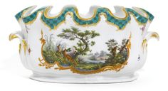 A porcelain verrière from the hunting service, Imperial Porcelain Manufactory, St Petersburg, period of Nicholas I (1825-1855) | Lot | Sotheby's