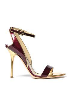 Pollini burgundy, gold
