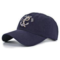4bf993d5b42 2018 NEW Cotton Boat Anchor Men Embroidery Caps Outdoor Hat Retro Shade Hats  Duck Cap Baseball Cap Adjustable 4 Color Cap
