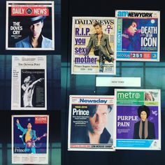 Today's front pages are a tribute to a music legend. RIP #PRINCE
