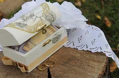 AmiAtelier / Svadobná pokladnička malá s holubicami