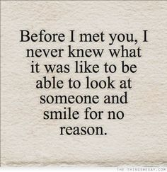 But I are smiling for a reason